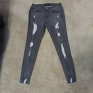 Fashion Nova Gray Jeans. 9